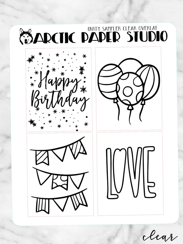 *CLEAR* Overlay Birthday