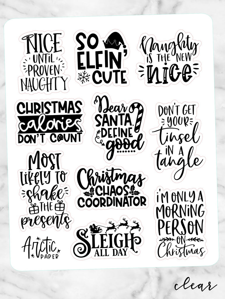 *CLEAR* Sassy Christmas Quotes