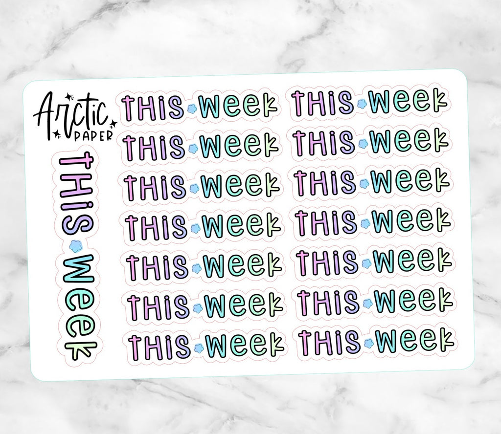 This Week - Premium Matte Script Words