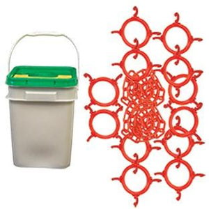 100FT Cone Chain Connector Kit in a Bucket - The Crowd Controller