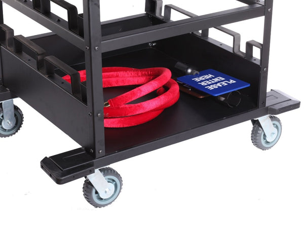 Barriers Stanchions 12-Post Horizontal Stanchion Cart - TheCrowdController.com