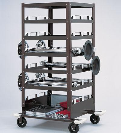 Barriers Stanchions 18 Storage Cart | Model 3035 - TheCrowdController.com