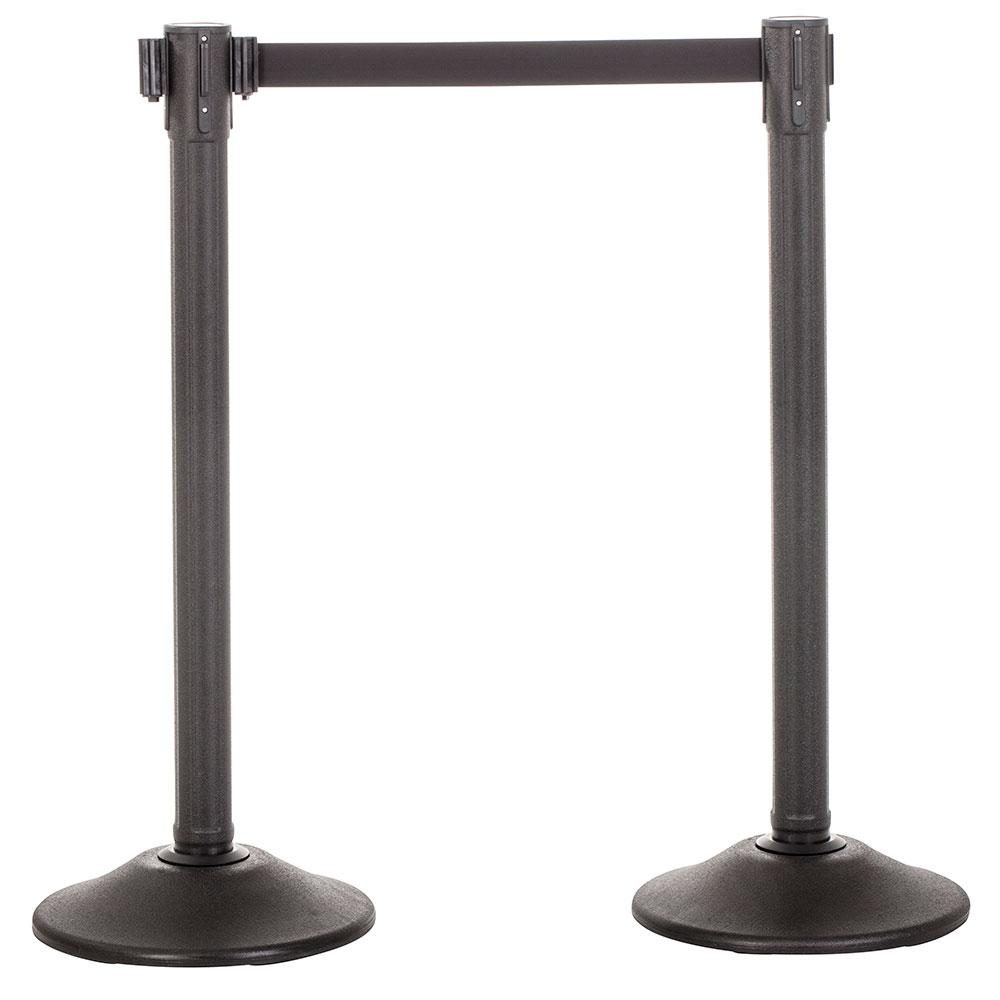 2-Pack Premium Plastic Stanchions Barriers with Retractable Belt - Trek - The Crowd Controller