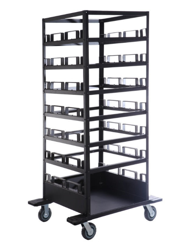 Barriers Stanchions 21-Post Horizontal Cart- TheCrowdController.com