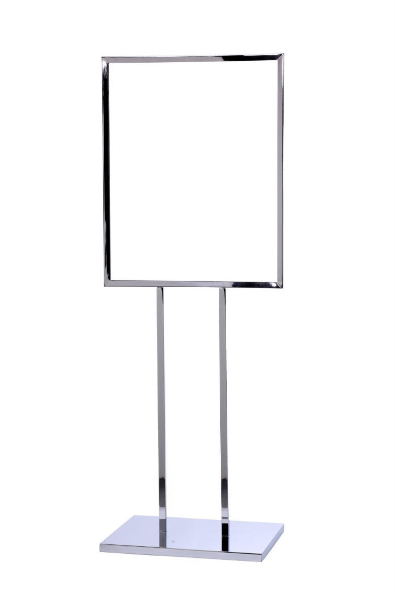 22 x 28 Single Frame Flat Base Poster Stand - The Crowd Controller
