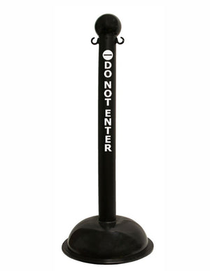 "3"" Diameter Safety Label Stanchion / 41"" Height - The Crowd Controller"