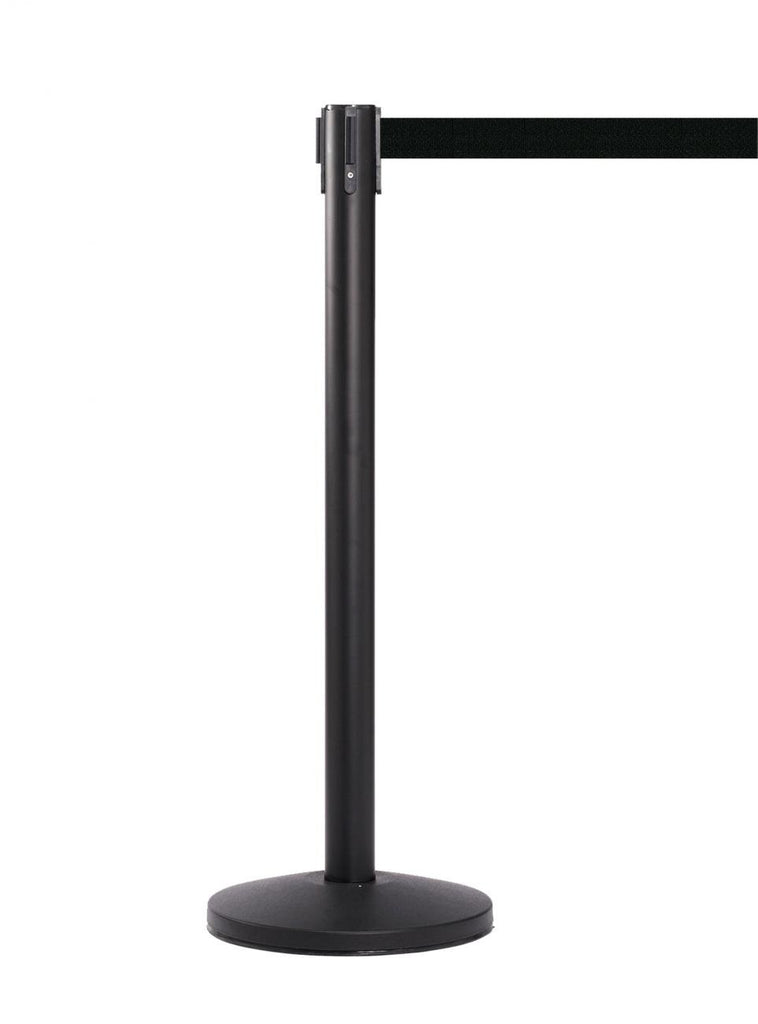 Barriers Stanchions QueueMaster 550 Black - 8.5' Belt - The Crowd Controller