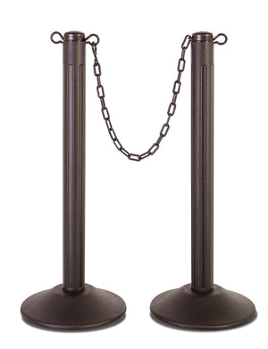 ChainBoss Molded Stanchions - Filled base / 2-Pack - The Crowd Controller