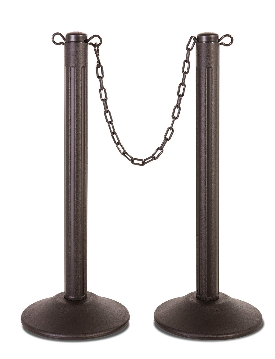 ChainBoss Molded Stanchions - Unfilled base / 2-Pack - The Crowd Controller
