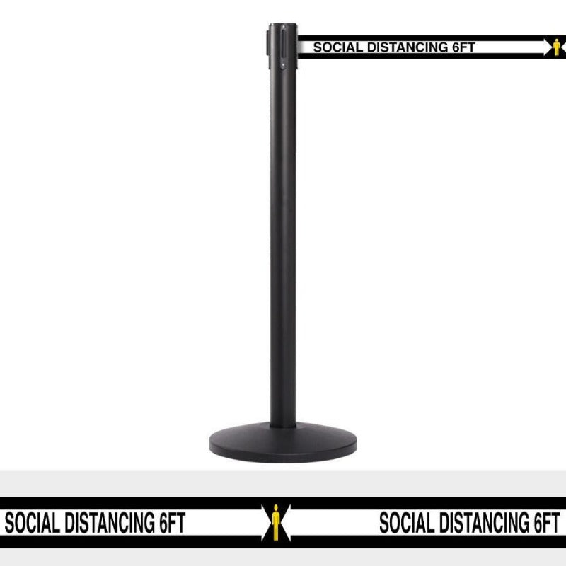 QueueMaster SD - 13' Belt - Social Distance Stanchion Barrier - The Crowd Controller