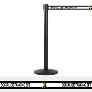 Barriers Stanchions Social Distance 13' Black Belt - The Crowd Controller