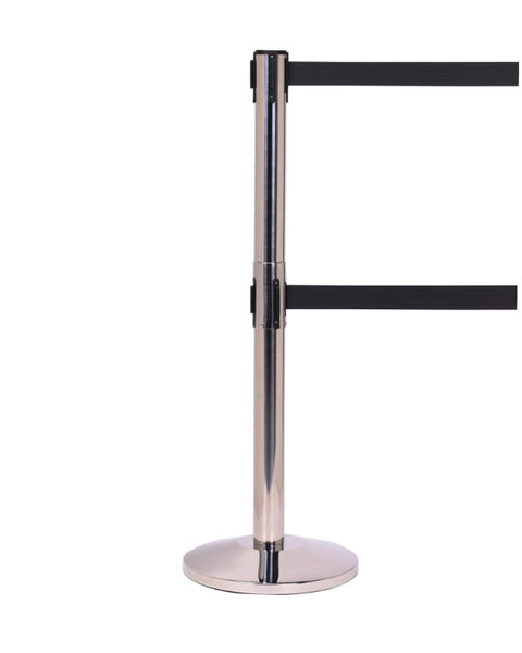 Barriers Stanchions QueueMaster Twin 550 - 11' Belts - The Crowd Controller