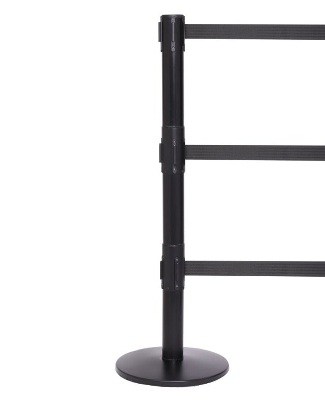 Barriers Stanchions QueuePro 250 Triple - 11 FT Belts - The Crowd Controller