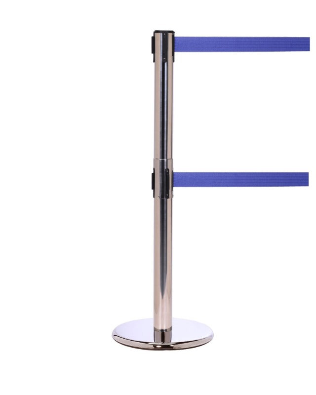 Barriers Stanchions QueuePro 250 Twin - 11 FT Belts - The Crowd Controller