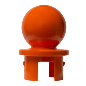 "Crowd Control Replacement Ball top for 2.5"" Diameter For Plastic Barrier Stanchions - TheCrowdController.com"