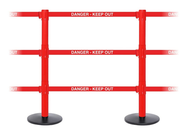 Barriers Stanchions SafetyPro Triple - TheCrowdController.com
