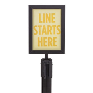 Sign Holder For Steel Stanchions Barriers - US-Weight - The Crowd Controller