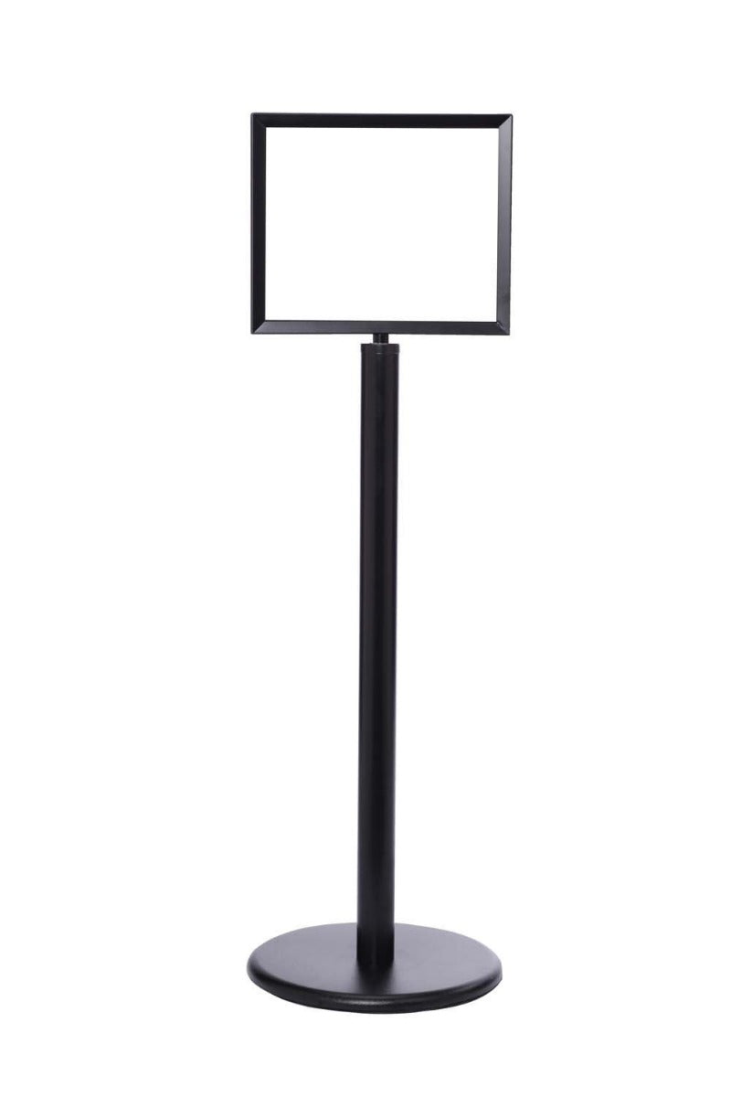 Crowd Control Sign Stand - Horizontal Frame / Flat Base - TheCrowdController.com