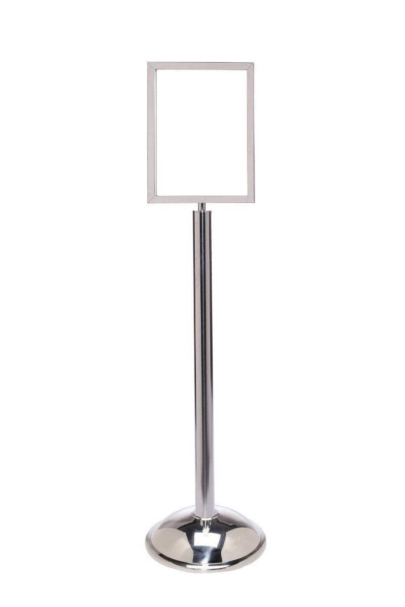 Crowd Control Sign Stand - Vertical Frame / Dome Base - TheCrowdController.com