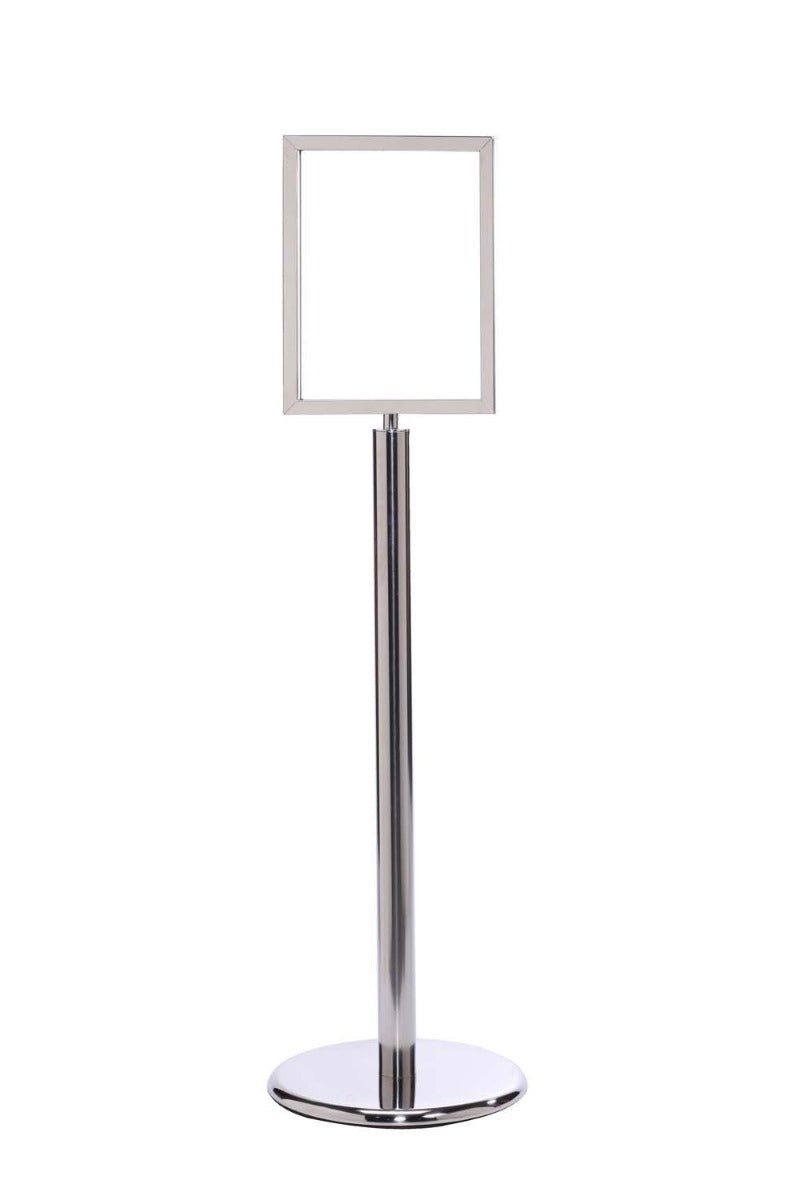 Sign Stand - Vertical Frame / Flat Base - The Crowd Controller