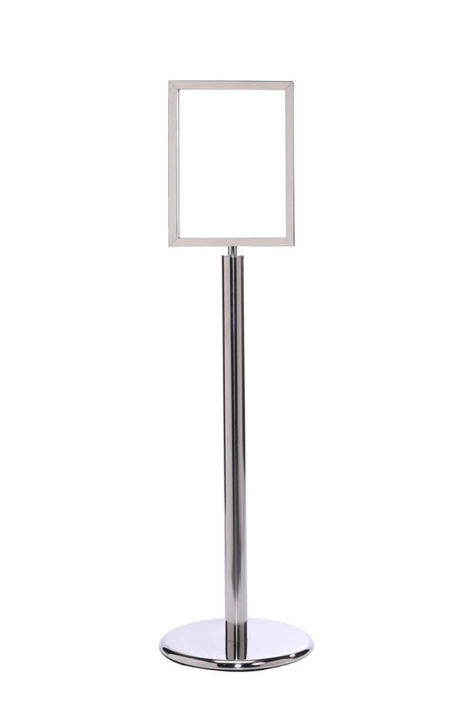 Crowd Control Sign Stand - Vertical Frame / Flat Base - TheCrowdController.com