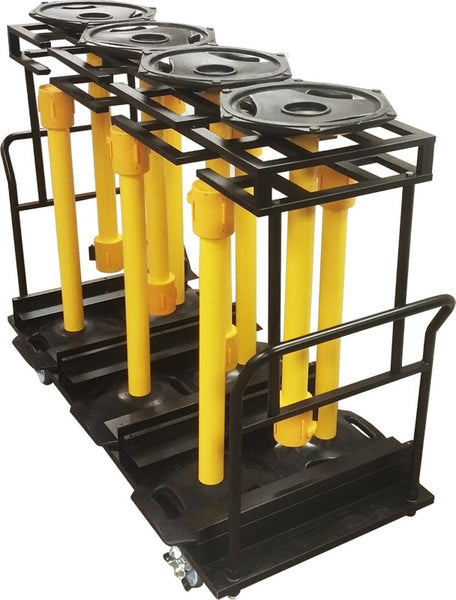 Barriers Stanchions WeatherMaster Storage Cart- The Crowd Controller