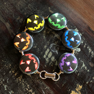 Colorful Pumpkin Halloween Bracelet