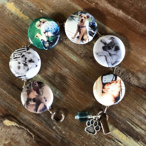 Custom Button Bracelet (Your Photos)