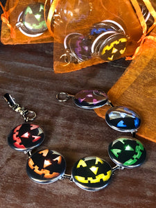 Colorful Pumpkins Button Bracelet