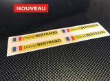 Stickers autocollant 3D doming jaune