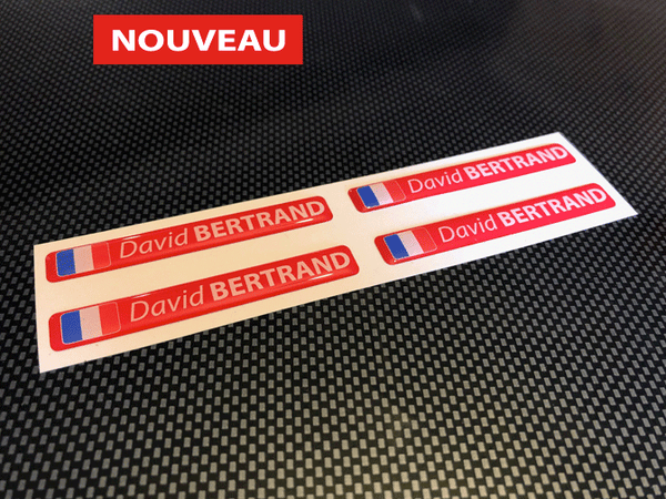 Stickers autocollant 3D doming rouge