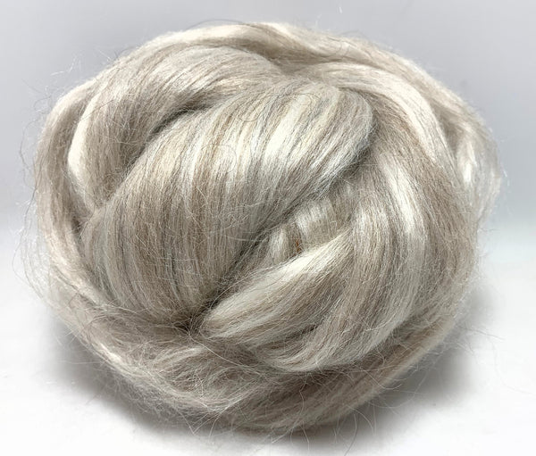 Gray Alpaca and Bleached Tussah Silk