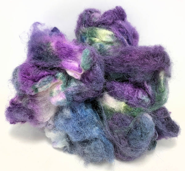 Blueberry - Hand Dyed  Eri (Peace) Silk Cocoons
