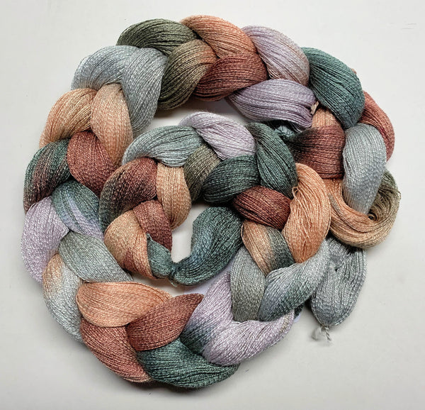 Misty Pines - Pre-wound Weaving Warp - Hand Dyed - Rayon
