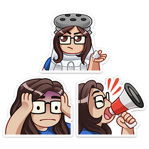 STICKER PACK | TINA EMOTES! #2