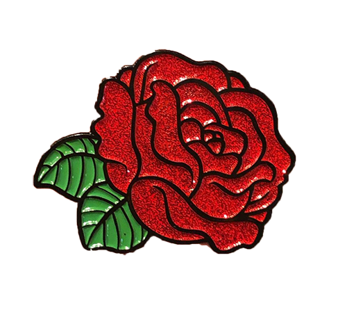 PIN | RED ROSE [GLITTER]