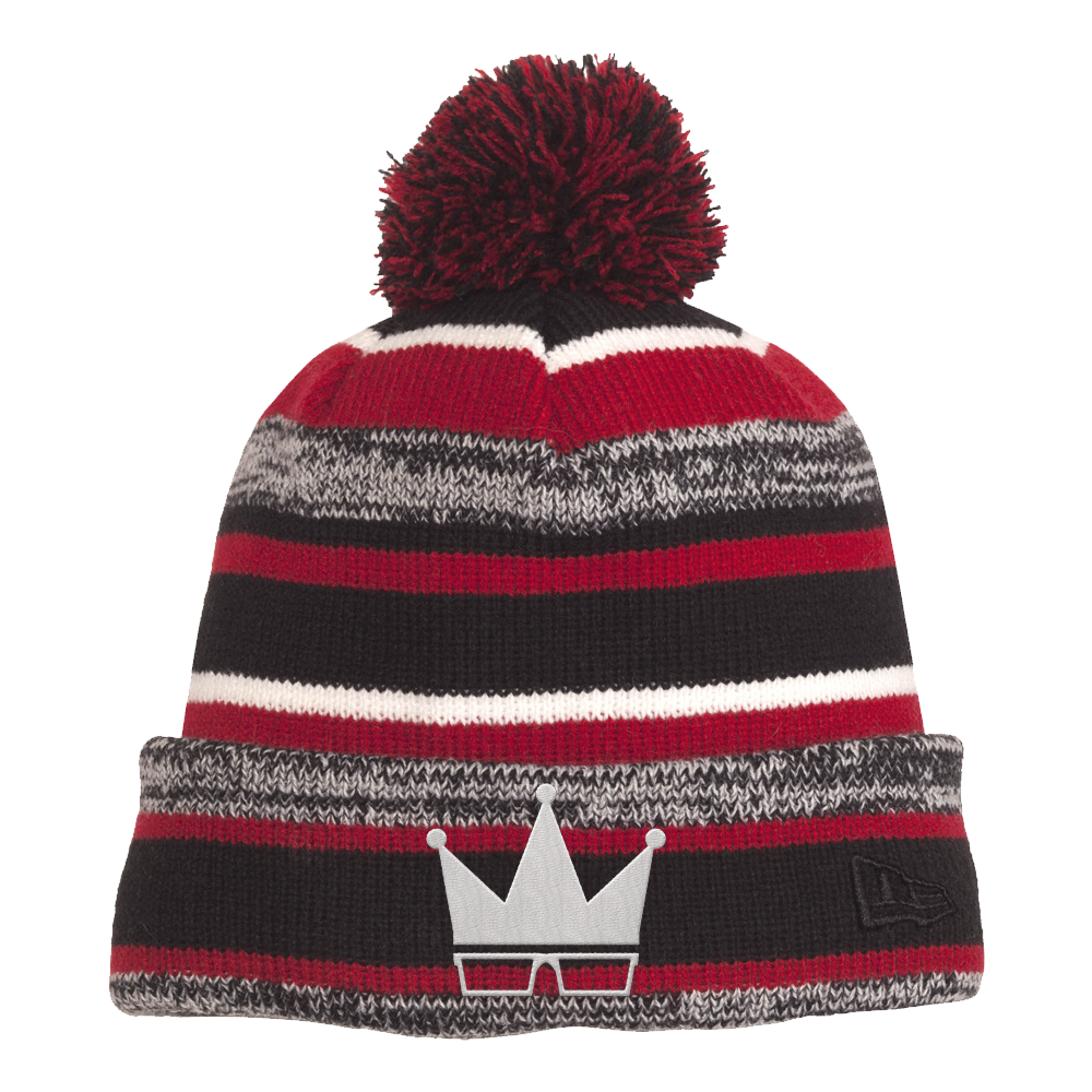 BEANIE | POM-POM WHITE CROWN