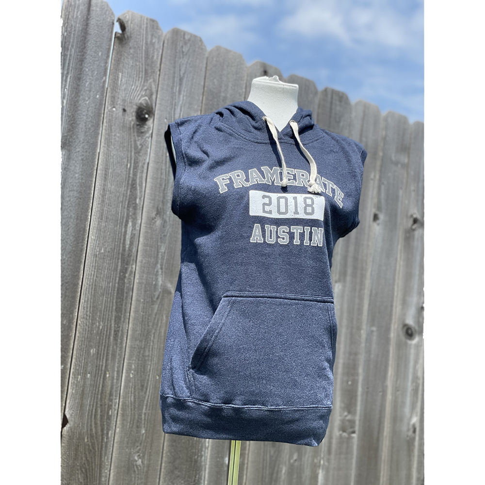 SLEEVELESS HOODIE | FRAMERATE COLLEGE