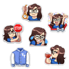 STICKER PACK | TINA EMOTES! #1