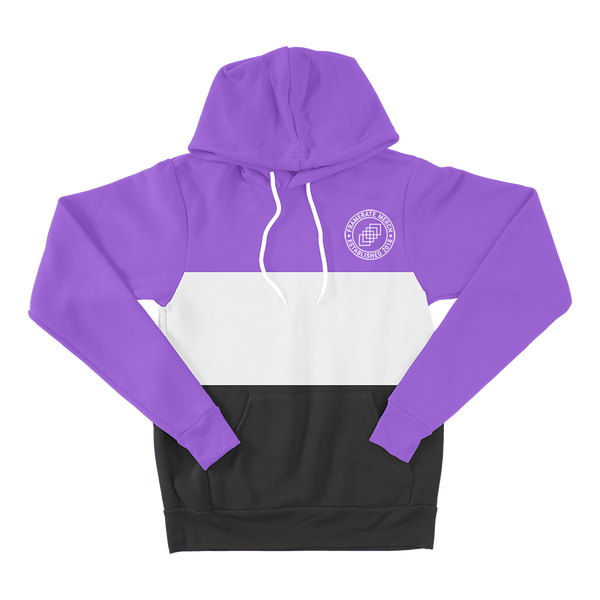 HOODIE | PURPLE TRI-COLOR FRAMERATE EMBLEM