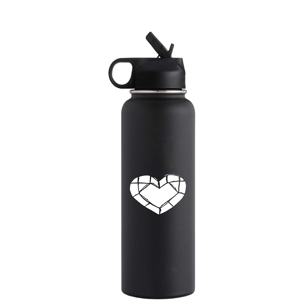 WATER BOTTLE | HEART EMBLEM [21oz]