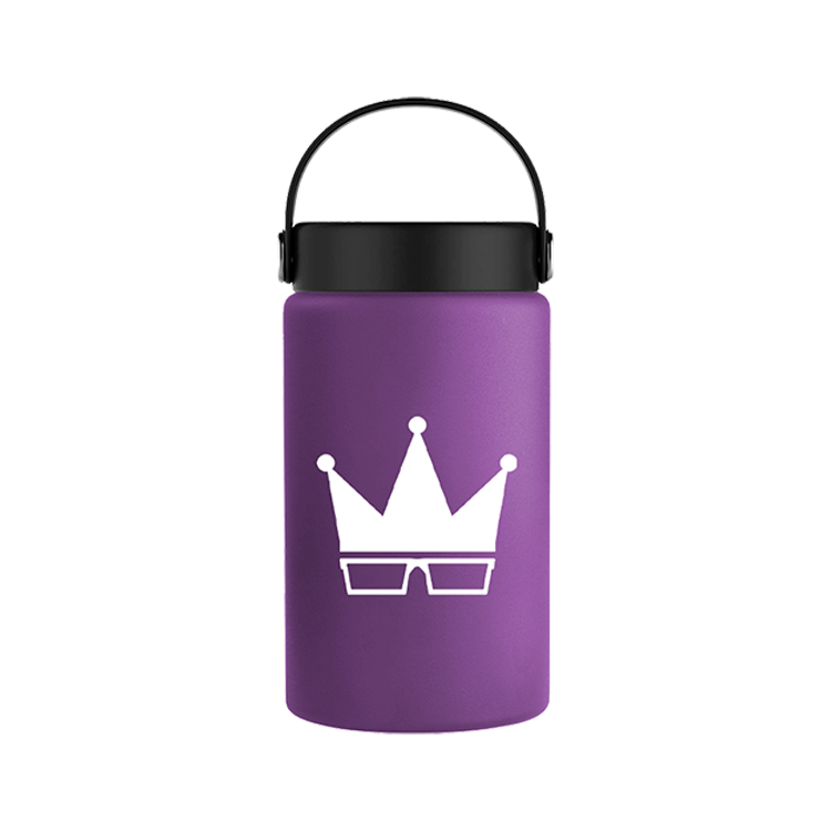 WATER BOTTLE | WHITE CROWN  [12oz]