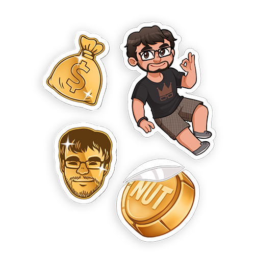 STICKER PACK | RAY GOLDEN EMOTES