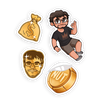 STICKER PACK | GOLDEN EMOTES