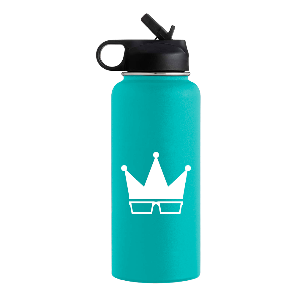 WATER BOTTLE | WHITE CROWN [32oz]