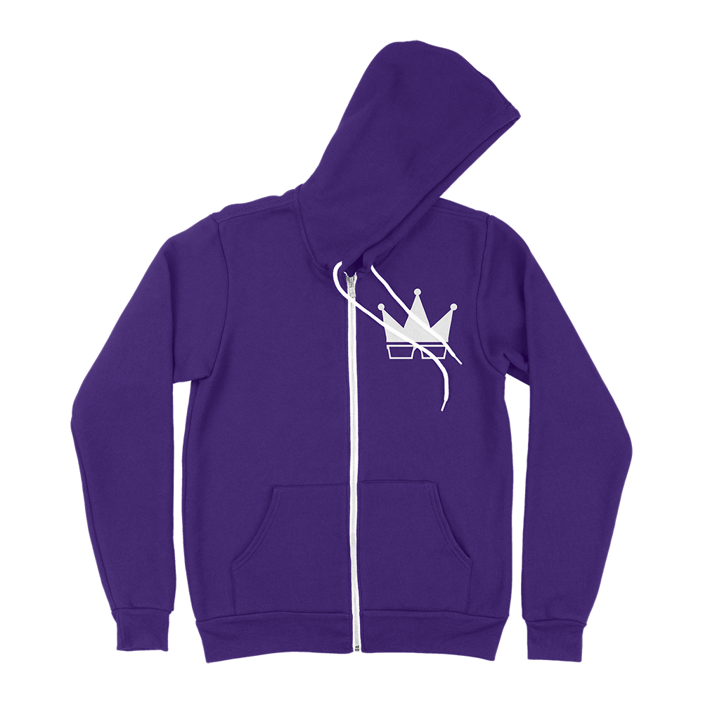 ZIP-UP HOODIE | WHITE CROWN