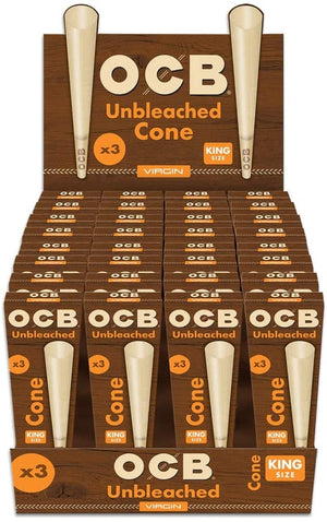 OCB Virgin Unbleached Cone King Size