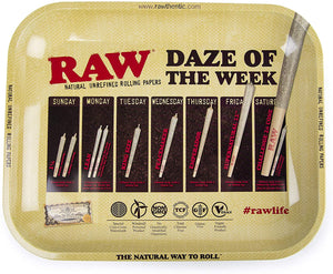 RAW DAZE OF THE WEEK METAL ROLLING TRAY