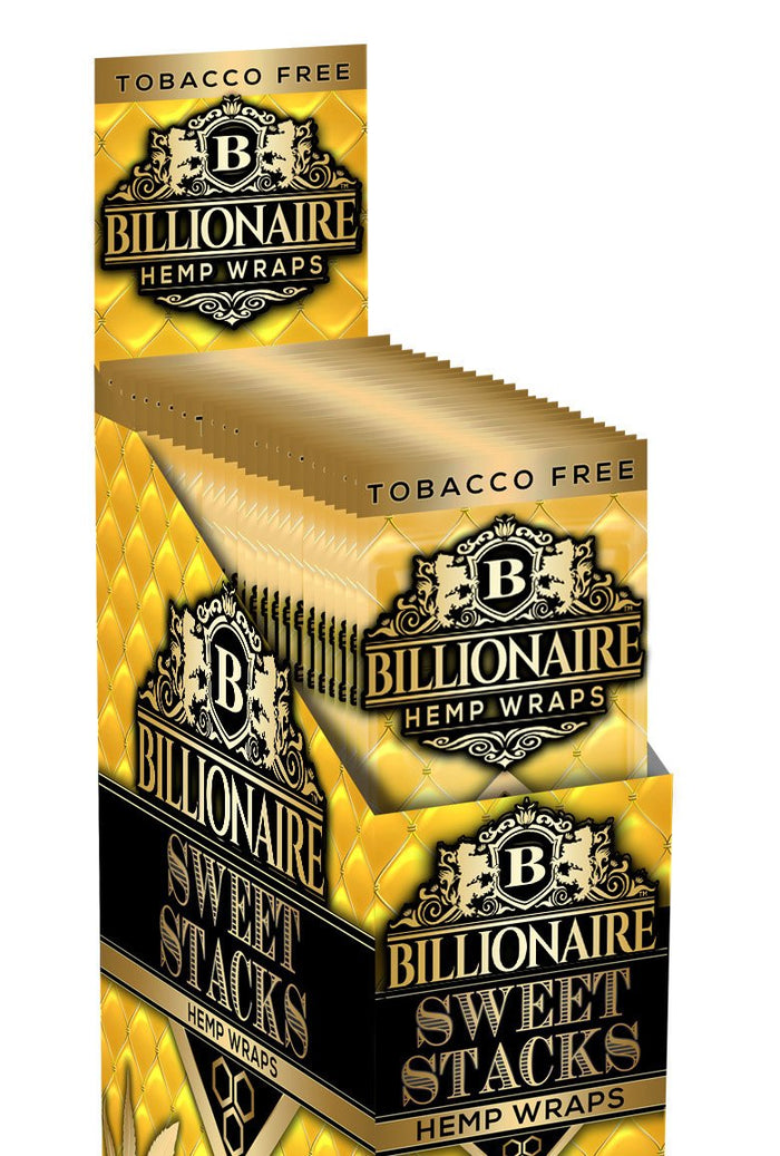 BILLIONAIRE WRAPS SWEET STACKS - 2 WRAPS PER POUCH 25 POUCHES