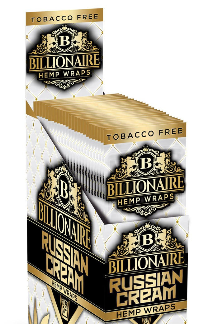 BILLIONAIRE WRAPS RUSSIAN CREAM - 2 WRAPS PER POUCH 25 POUCHES
